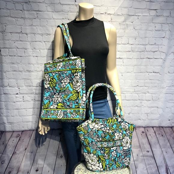 "Vera Bradley Handbags - VERA BRADLEY ""Island Blooms"" Set Of 2 Bags RETIRED"